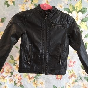 H&M Kids Pleather Motorcycle Jacket Size US 6-7